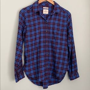 American Eagle Outfitters Blue Plaid Shirt Small